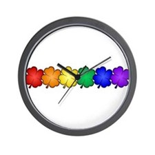 Shamrock Pride Wall Clock