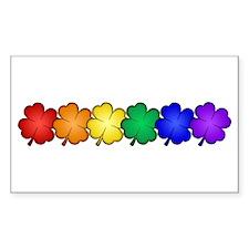 Shamrock Pride Sticker (Rectangular)