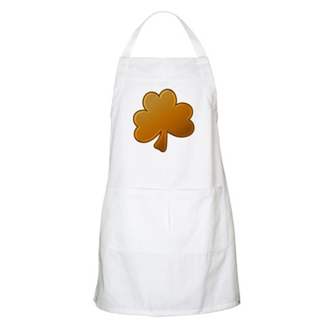 Orange Shamrock BBQ Apron