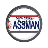 Seinfeld Ass Man License Plat Wall Clock