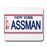 Seinfeld Ass Man License Plat Mousepad