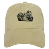 Hayabusa White-Blue Bike Baseball Cap