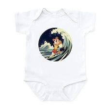 Vintage Art Deco Love in the Surf Infant Bodysuit