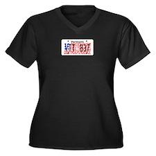 VT Independence Women's Plus Size V-Neck Dark T-Sh