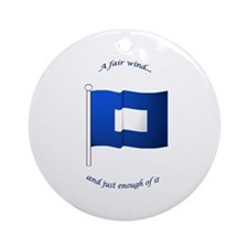 Blue Peter Ornament (Round)