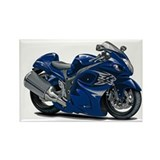 Hayabusa Dark Blue Bike Rectangle Magnet