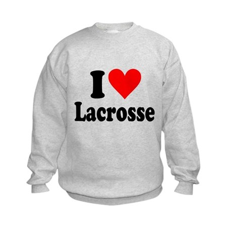 I Heart Lacrosse: Kids Sweatshirt