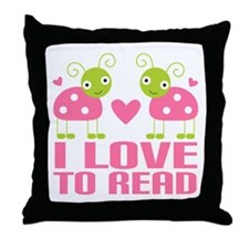 Ladybug I Love To Read Throw Pillow