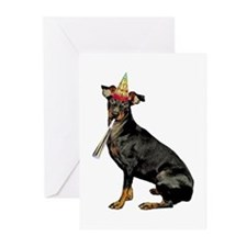 Manchester Terrier Birthday Cards (Pk of 10)