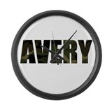 Camo Avery Large Wall Clock