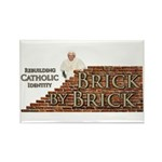 Brick By Brick with Benedict Rectangle Magnet (10