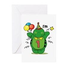 Happy Turtle 1st Birthday Greeting Cards (Pk of 10