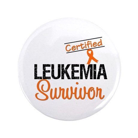 "CertifiedLeukemiaSurvivor 3.5"" Button (100 pack)"