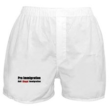 Pro Immigration Anti illegal Boxer Shorts