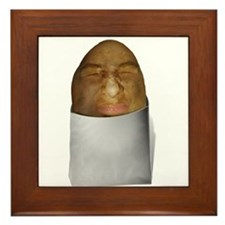 Cute Potatoes Framed Tile