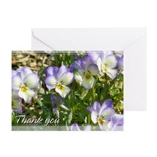 Johnny Jump-Up Pansy Thank You Cards 5x7 (10 Pk)