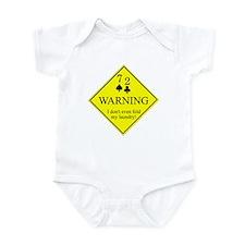 72 warning Infant Bodysuit