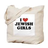 I Love Jewish Girls Tote Bag