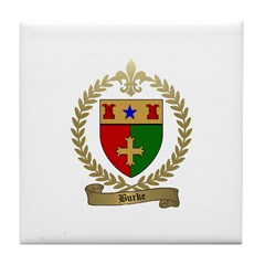 BURKE Family Crest Tile Coaster
