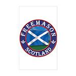 Scottish Masons Sticker (Rectangle)