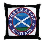 Scottish Masons Throw Pillow