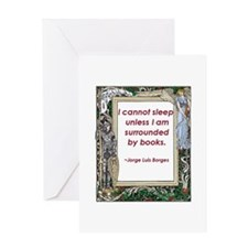 Surrounded By Books Greeting Card