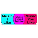 Music Snob Music I Used To Li Bumper Sticker