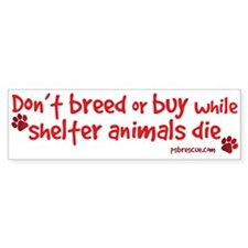 Unique Don't breed Bumper Sticker