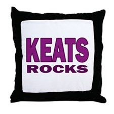 Keats Rocks Throw Pillow