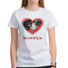 Unique Pug valentine Tee
