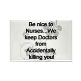 Funny Nurses Rectangle Magnet
