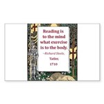 Reading Is To The Mind Sticker (Rectangle 50 pk)