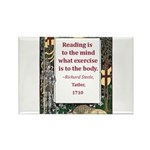 Reading Is To The Mind Rectangle Magnet (10 pack)