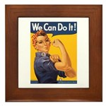 We Can Do It Poster Framed Tile