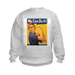We Can Do It Poster (Front) Kids Sweatshirt