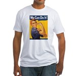 We Can Do It Poster (Front) Fitted T-Shirt