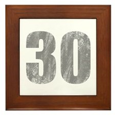 Stonewashed 30th Birthday Framed Tile