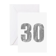 Stonewashed 30th Birthday Greeting Card