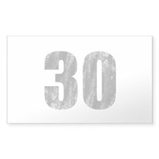Stonewashed 30th Birthday Decal