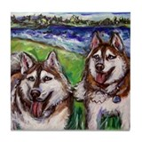 Huskies, Belagio & Mandy Tile Coaster