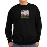Seattle WA Skyline Graphics Sunset Sweatshirt (dar