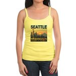 Seattle WA Skyline Graphics Sunset Jr. Spaghetti T