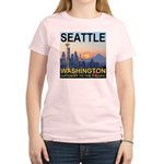 Seattle WA Skyline Graphics Sunset Women's Light T