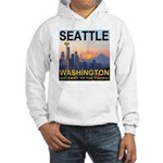 Seattle WA Skyline Graphics Sunset Hooded Sweatshi