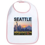 Seattle WA Skyline Graphics Sunset Bib