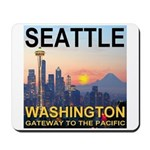 Seattle WA Skyline Graphics Sunset Mousepad