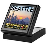 Seattle WA Skyline Graphics Sunset Keepsake Box