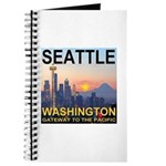 Seattle WA Skyline Graphics Sunset Journal