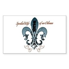 Oilfield Wife blue Decal