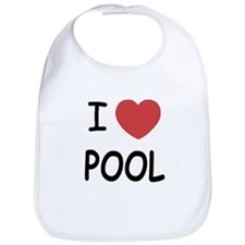 I heart pool Bib